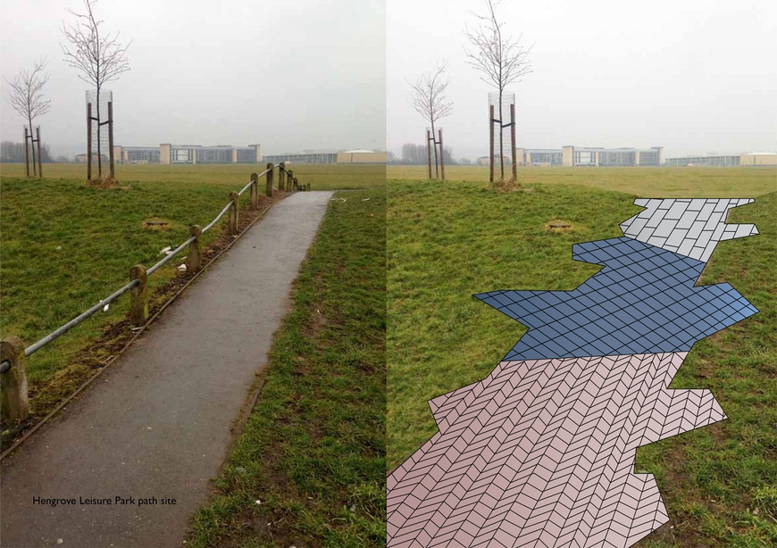 Path mock-up by NIls Norman